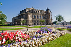 The famous Semperoper in Dresden Stock Images