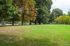 Famous Sempione park in Milan, Italy. Nature.  royalty free stock photography