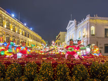 The famous Senado Square of Macau Royalty Free Stock Photography