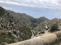 Famous serpentine road Sa Calobra, Mallorca royalty free stock image