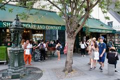 The famous Shakespeare and Company bookstore in Paris Stock Photos