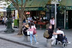 The famous Shakespeare and Company bookstore in Paris Stock Photography