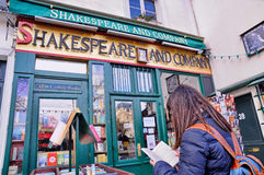 The famous Shakespeare and Company bookstore Stock Photos