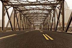 The famous Shanghai Waibaidu Bridge Royalty Free Stock Images