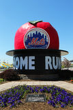 The Famous Shea Stadium Home Run Apple on Mets Plaza in the front of Citi Field Royalty Free Stock Image