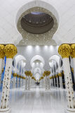 In the famous Sheikh Zayed Grand Mosque Stock Photography