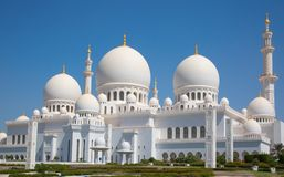 Sheikh Zayed mosque Royalty Free Stock Images