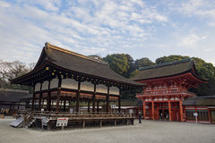 The famous Shimogamo Jinja Royalty Free Stock Images