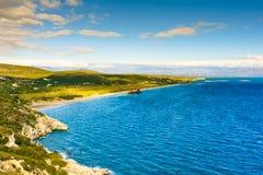 The famous shipwreck near Gythio Greece stock photography