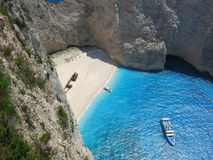 Famous shipwreck in Zakynthos Greece Royalty Free Stock Images