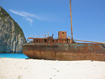 Famous shipwreck on Zakynthos Greece Royalty Free Stock Image