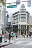 Famous shopping area in rodeo drive los angeles united states. Famous shopping area with people in rodeo drive los angeles united states Stock Photography