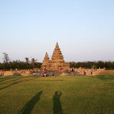 Famous shore temple Mahabalipuram, Tamil Nadu, India. Famous shore temple with thousands of sculptures - Shore temple the UNESCO world heritage site in Stock Image