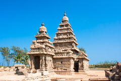 Famous shore temple at Mamallapuram Royalty Free Stock Image