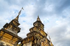 Xishuangbanna Daikin Tower. The famous Shwedagon Pagoda in Xishuangbanna, Yunnan, China Stock Photo