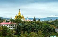 Xishuangbanna Daikin Tower. The famous Shwedagon Pagoda in Xishuangbanna, Yunnan, China Royalty Free Stock Photo