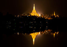 Famous Shwedagon Pagoda in Yangon, Myanmar Stock Photos