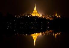 Famous Shwedagon Pagoda in Yangon, Myanmar Stock Photos