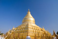 Famous Shwezigon pagoda Stock Image