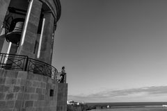 Siege Bell Memorial of Valletta Malta stock photography