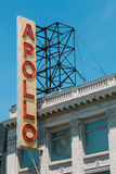 The Famous Sign Outside of Apollo Theater stock image