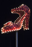 Famous silver slipper on Fremont Street Royalty Free Stock Photos