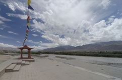 Famous sindhu ghat on indus river near leh city. India Stock Image