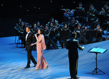 The famous singer China Cai Guoqing and baixue-theFamous and classicconcert Royalty Free Stock Photography