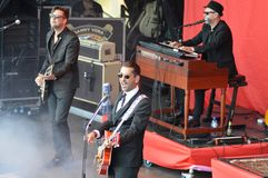 """Danny Vera at the Dutch liberation festival in Wageningen. Famous singer Danny Vera is performing at, as we call it """"het bevrijdingsfestival"""". Danny stock photos"""