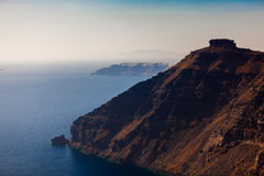 Famous Skaros Rock at Santorini Royalty Free Stock Photography