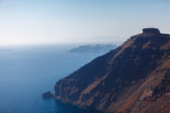 Famous Skaros Rock at Santorini Stock Photo