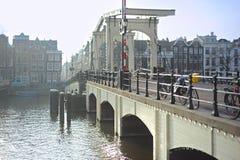 Famous Skinny Bridge, Amsterdam Stock Image