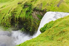The famous skogafoss waterfall in southern iceland stock photos