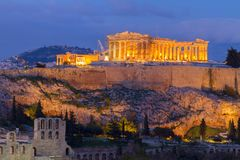 Famous skyline of Athens, Greece Stock Photography