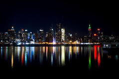 The famous skyline of New York city from Jersey Royalty Free Stock Images