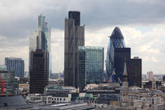 Famous skyscrapers of London's Stock Photo