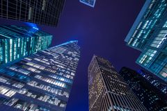 Famous skyscrapers of New York Stock Image