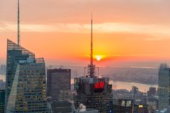 Famous skyscrapers of New York Stock Photo