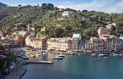 The famous small square of Portofino Stock Photos
