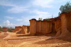 Famous soil erosion Stock Photo