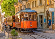 The famous Soller Tram, Soller, Mallorca. Royalty Free Stock Image