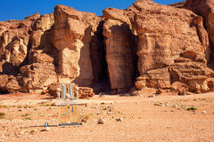 The Famous Solomons Pillars in Timna National Park , Israel. Royalty Free Stock Images