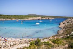 Son Parc beach in Menorca, Spain Royalty Free Stock Image