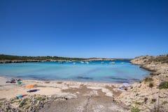 Son Parc beach in Menorca, Spain. Famous Son Parc beach on balearic island Menorca, Spain Royalty Free Stock Photo
