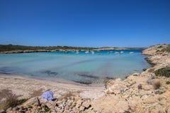 Son Parc beach in Menorca, Spain. Famous Son Parc beach on balearic island Menorca, Spain Stock Images