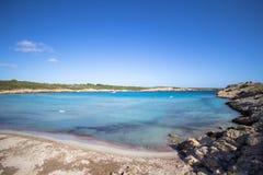 Son Parc beach in Menorca, Spain. Famous Son Parc beach on balearic island Menorca, Spain Royalty Free Stock Photos