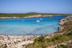 Son Parc beach in Menorca, Spain. Famous Son Parc beach on balearic island Menorca, Spain Stock Photos