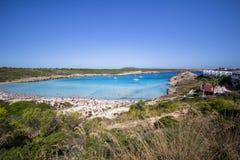 Son Parc beach in Menorca, Spain. Famous Son Parc beach on balearic island Menorca, Spain Royalty Free Stock Image