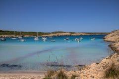 Son Parc beach in Menorca, Spain. Famous Son Parc beach on balearic island Menorca, Spain stock photo