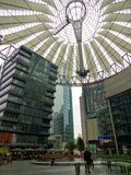 The famous Sony Center with its glass and modern buildings, symbol of the contemporary Berlin. Germany. stock photography